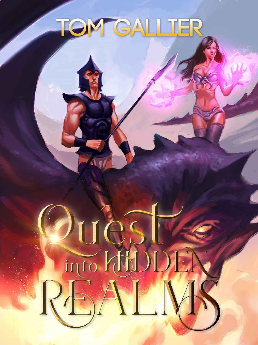 Обложка книги Quest into Hidden Realms (Hidden Realms LitRPG Series Book 1)